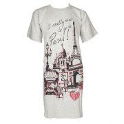 Fun2wear meisjes bigshirt korte mouw 'Parijs' grijs mêlee